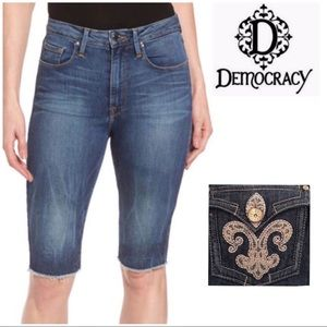 Democracy Bermuda Denim Shorts